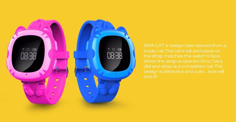 SMA Real-time tracker kid smart watch with SOS button single SIM card anti-lost remote monitor kids GPS smartwatch