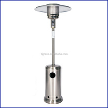 Outdoor stainless steel gas flame patio heaters