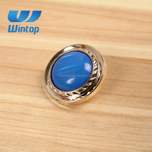 shank style big blue crystal diamond button for clothing decoration