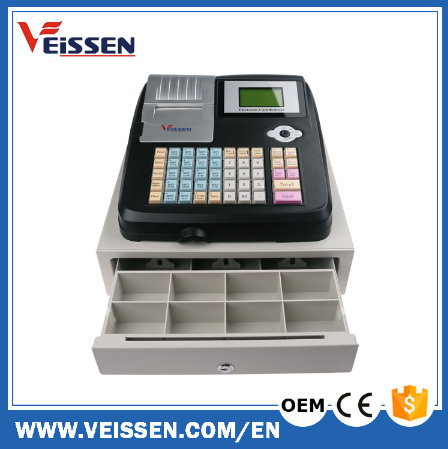 Easy Operation Electronic cash register/ cash tills with free thermal paper provided OEM for Palestine