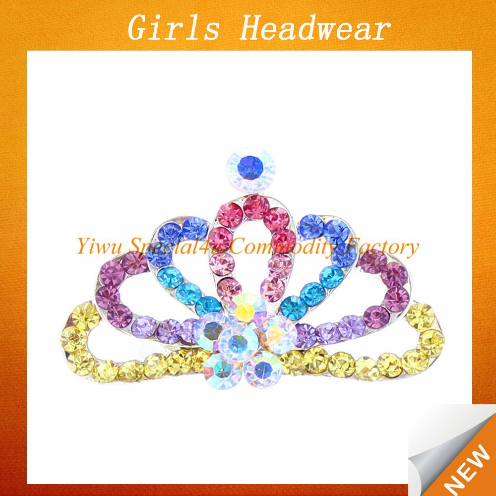 Baby Girl Headband Multicolored Crystal Crown for baby girl for funny headband Lyd-792