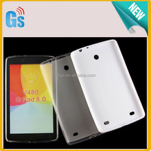 "Silicon Case For 8"" Tablet Pudding TPU Cover For LG G Pad 8.0 V480"