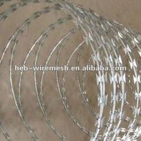 Low Cost Galvanized&PVC Coated Razor Barbed Wire