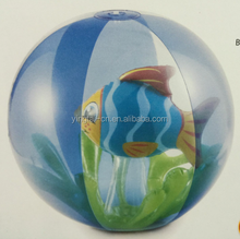 wholesale pvc beach ball inflatable transparent beach ball with animal inside