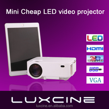Luxcine PTP200 Mini portable cheap LED video projector with HDMI/USB/SD-card/VGA