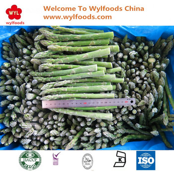 2017 Hot sales Fresh IQF Frozen Asparagus green spears