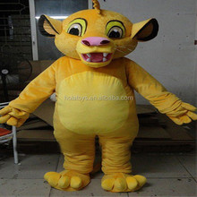 Hola yellow lion costumes/adult mascot costume