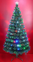 LED Light Source Fiber Optic Christmas Tree with Multiple Color LED Lights
