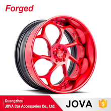 custom lightweight exclusive forged wheels black and red rims