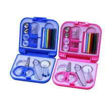 Sewing Kits Box Mini Needle Threads Buttons Scissor Thimble Portable Home Knitting Needles Travel Sewing Tool Set Travel Set
