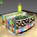 10x10ft Retail mall food kiosk for colorful ice cream kiosk and frozen yogurt kiosk for sale