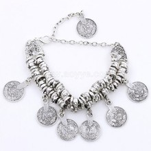 High quality jewellery alloy carve patterns designs coin brief paragraph bracelet