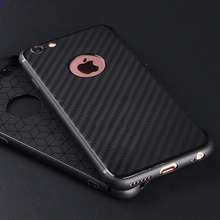 High Quality Black Carbon Fiber Case for iPhone 6 6plus 7 7plus Soft TPU Silicone Case