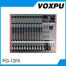 Low price PG-12FX sound mixer music mixer dj with MP3 USB and audio Interface