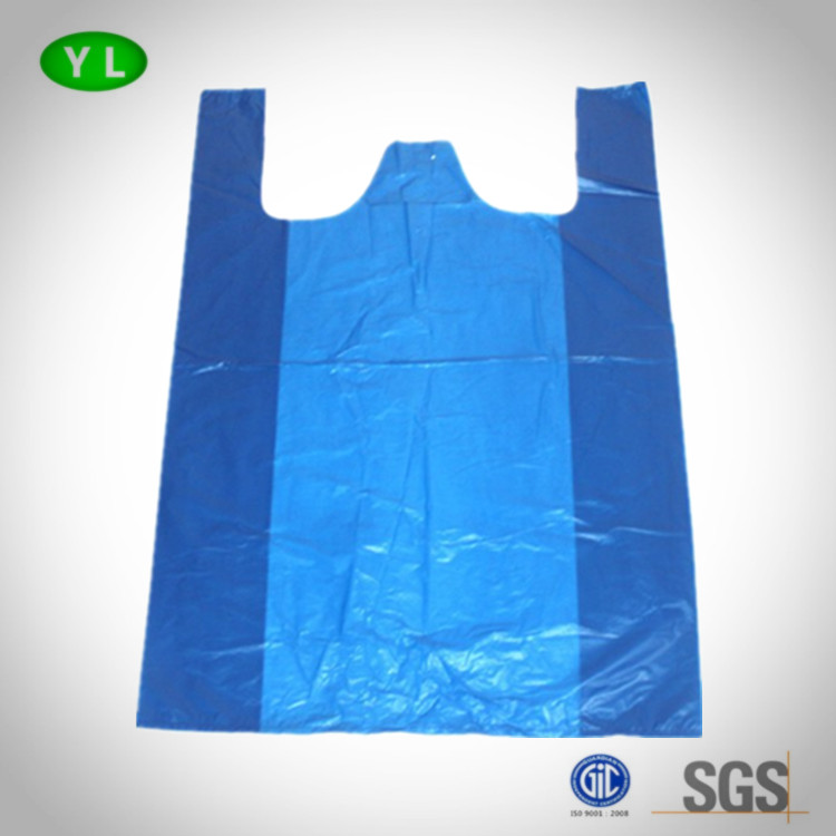 Factory made cheap big size plastic shopping bag vest bag T-shirt packaging bag