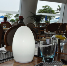 12V 1.5w hotel aqua blue table decorations light rechargeable battery Lamp cordless dinner lamps