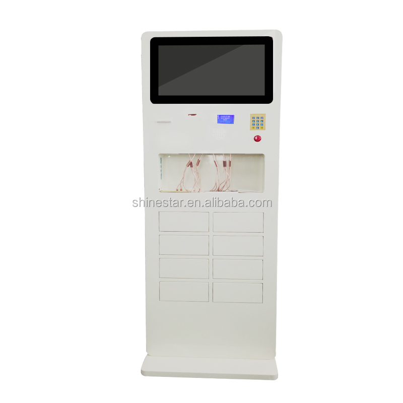 "22"" inch Floor stand digital advertising display mobile phone charging station kiosk"