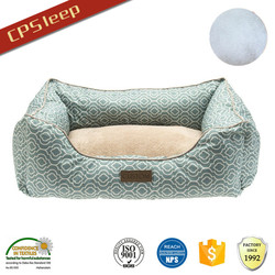 Durable Colorful Polyester Fiber Dirt-Proof dog bed with bolster