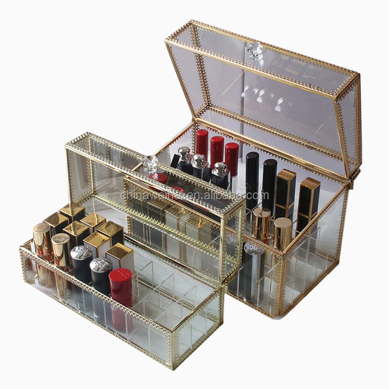 Clear Acrylic  Brass Display Box