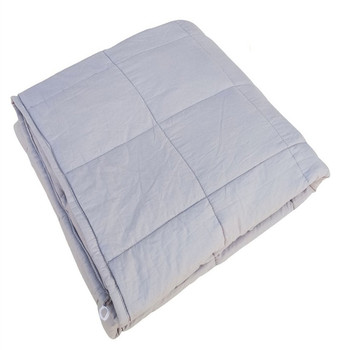 50% off stock low moq weighted blanket cotton