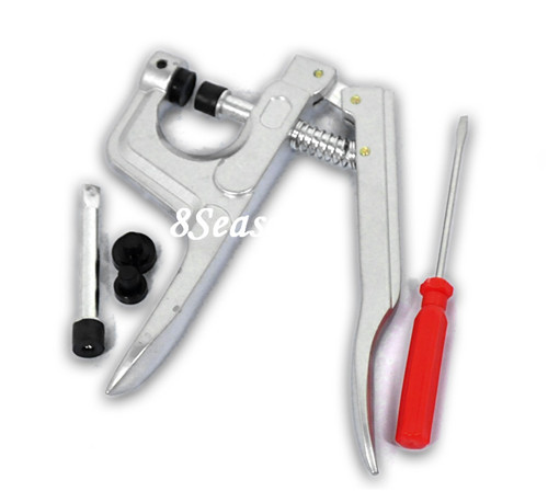Jewelry Tools Silver Button Fasteners Plastic Snap Plier Kit For Cloth Diapers/Bib