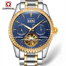 2017 New Arrival Luxurious Diamond Bezel and Unique Applique 8731G Gold Analog Watch, Wristwatch