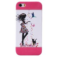 colored drawing pattern leather pc hybrid phone case for iphone 5/5se
