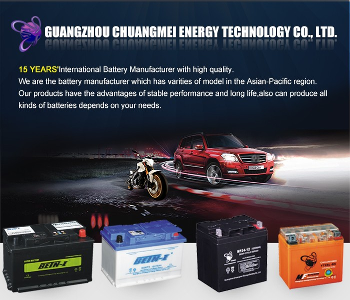 Manufacturer MFL2-400 BETN-I MF Type 12v car battery specifications