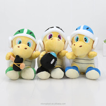 "Super Mario Bros <strong>Plush</strong> 8"" Koopa Troopa Hammer Bomb Boomerang Stuffed <strong>Plush</strong> Toys Doll"