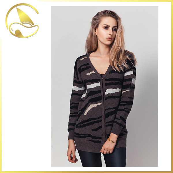 wholesale military woolen sweater new designs for ladies plus size or normal size women cardigan femininos