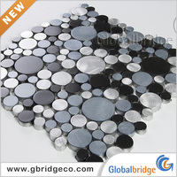 Foshan Factory Decorative Wall Aluminium Alloy Peel And Stick Mosaic M8AP&Q334