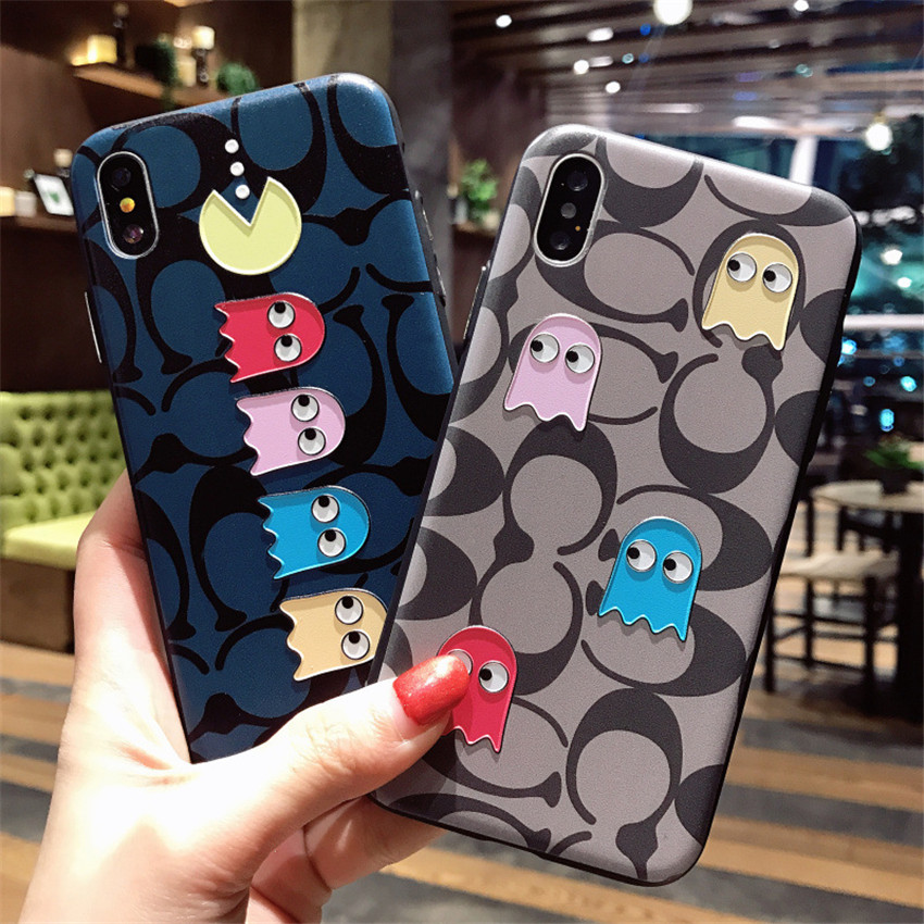 Slim Embossed Phone Cover For iPhone X Soft Cartoon Shell Flexible Silicone Anti-scratch Protective Back Case Cover MK946