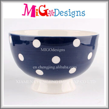 Wholesale Household Round Shaped Blue Decorative Serving Bowl