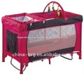 new design baby travel cots baby playpen baby red bed baby crib with toy bar and changing station