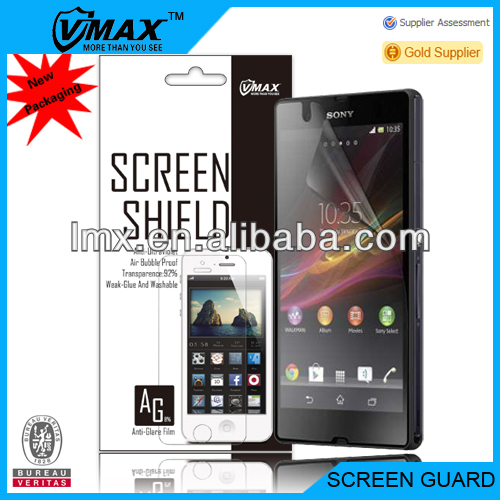 Touch 0.33mm temperered glass screen protector for sony xperia z ultra