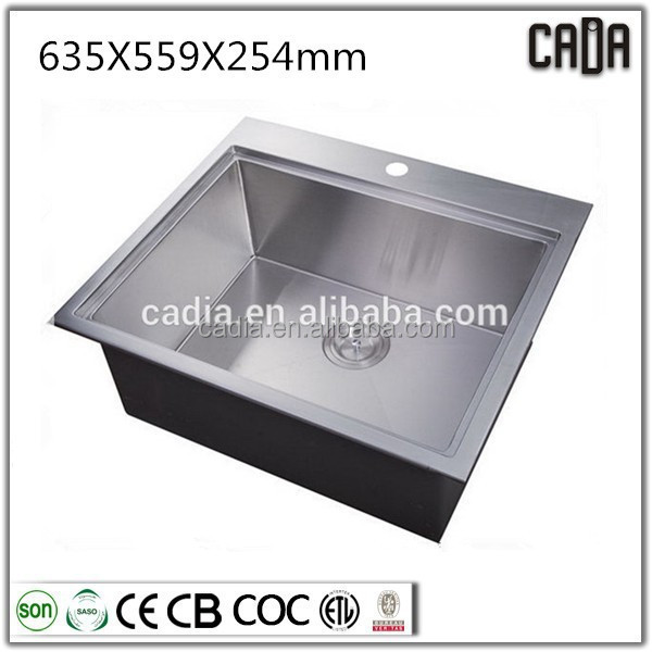 2014 hot selling low price square stainless steel kitchen sinks
