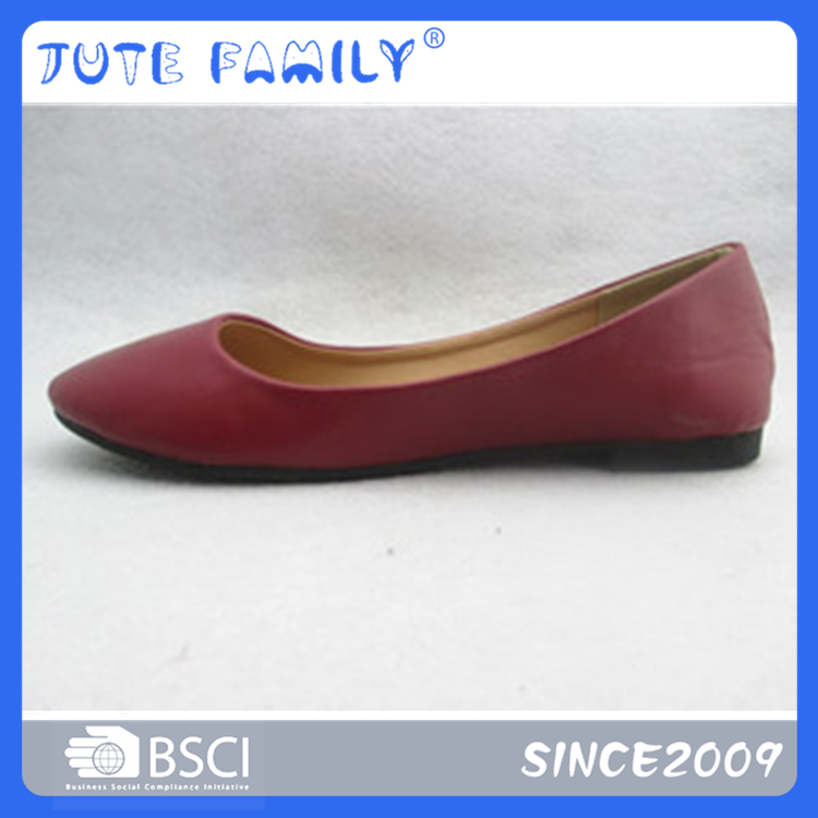 Oem For Female Beautiful Fashion Shoe Pu Uppper Lady Flat Shoes