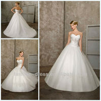 2013 new arrival brilliant ivory strapless organza ball gown elie saab wedding dresses for sale
