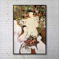 Chinese Women Nude Body Oil Painting for Sale