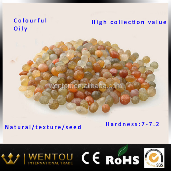 Precious jewelry made with natural seeds xinjiang druzy agate beads