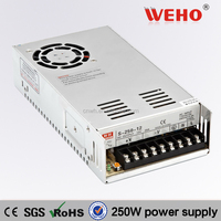 weho 250W 12v ac/dc power supply S-250-12 led switching power supply
