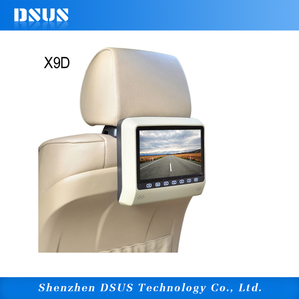 CE, FCC Certification and Headrest Placement 9 inch car headrest mount portable dvd player
