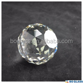 faceted cut and smooth polish crystal ball from BO-Glass