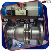 PN16 Stainless Steel Flanged Ball Valve with Electric Actuator