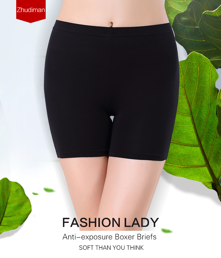 Anti--exposed underwear High waist women safe leggings bamboo fabric women boxer underwear