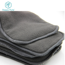 Happy Flute bamboo charcoal diaper insert for baby bamboo charcoal and microfiber liner