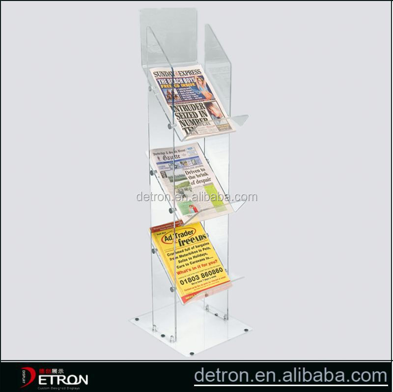 Acrylic flooring used newspaper racks
