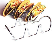 Set Of 2 Taco Holder, Stainless Steel Taco Stand Mexican Food Rack Shells for Hard or Soft Shell Tacos (3 Stack Holder)