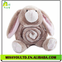 High Quality Factory Custom Plush Animal Blanket For Baby , Rabbit Shaped Baby Blanket