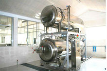 Food processing machine/automatic double layer water immersion steriliing retort